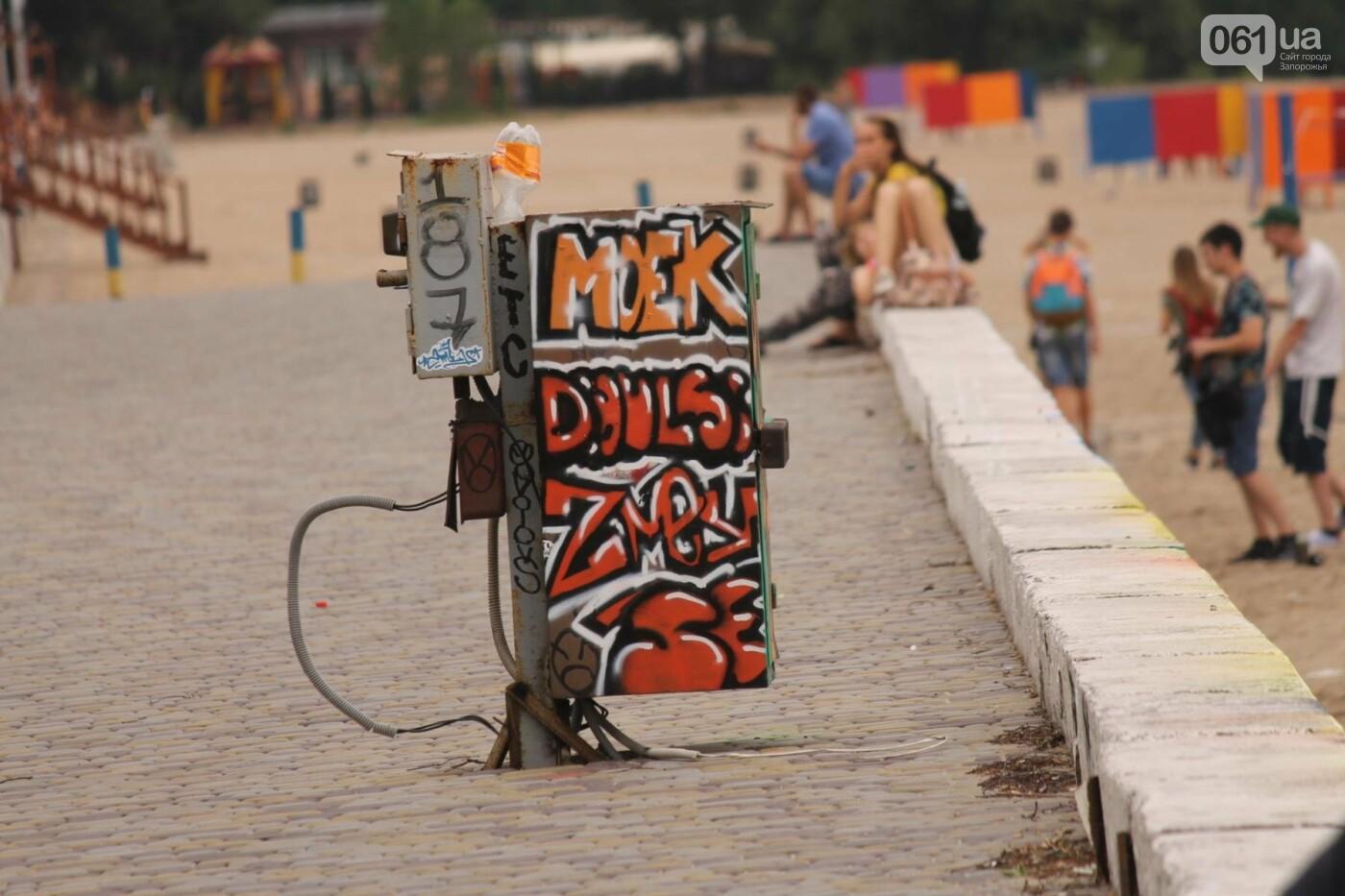 В Запорожье на пляже закончился фестиваль граффити: разрисовали 150 метров бетонной стены, – ФОТОРЕПОРТАЖ, фото-31