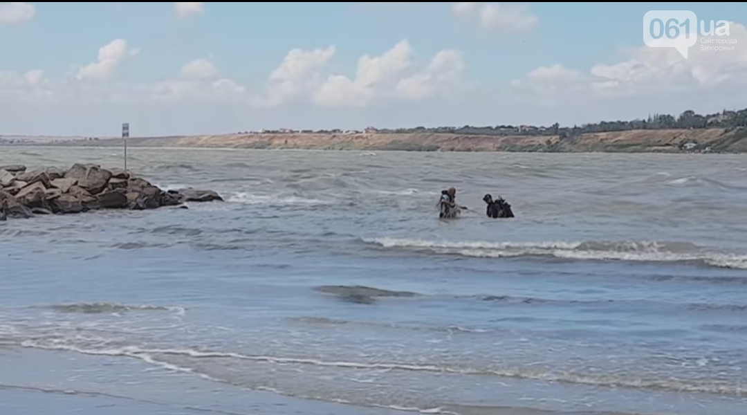 В Бердянске утонул мужчина, его внука ищут водолазы, — ВИДЕО, фото-1