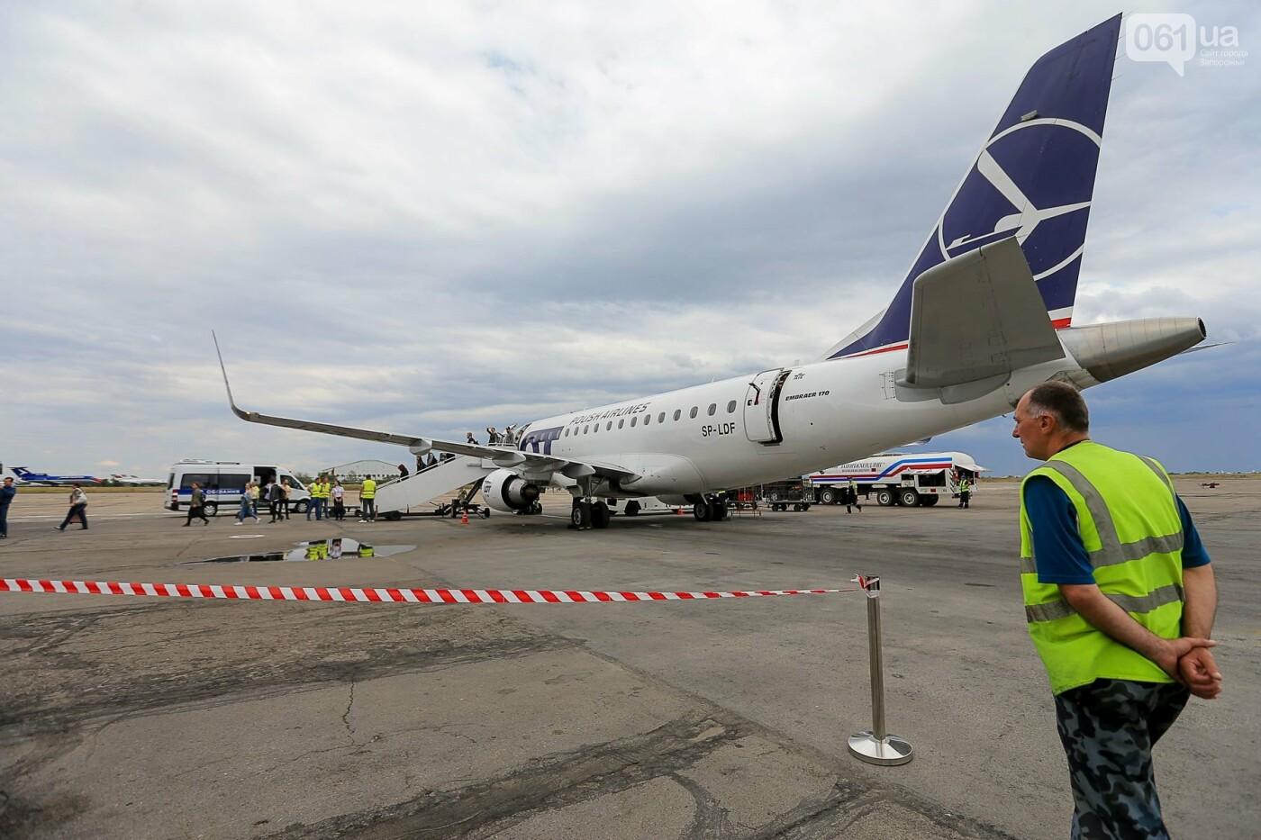 Торт, каравай и дождевая арка: открытие нового авиарейса Варшава-Запорожье в фотографиях, фото-22