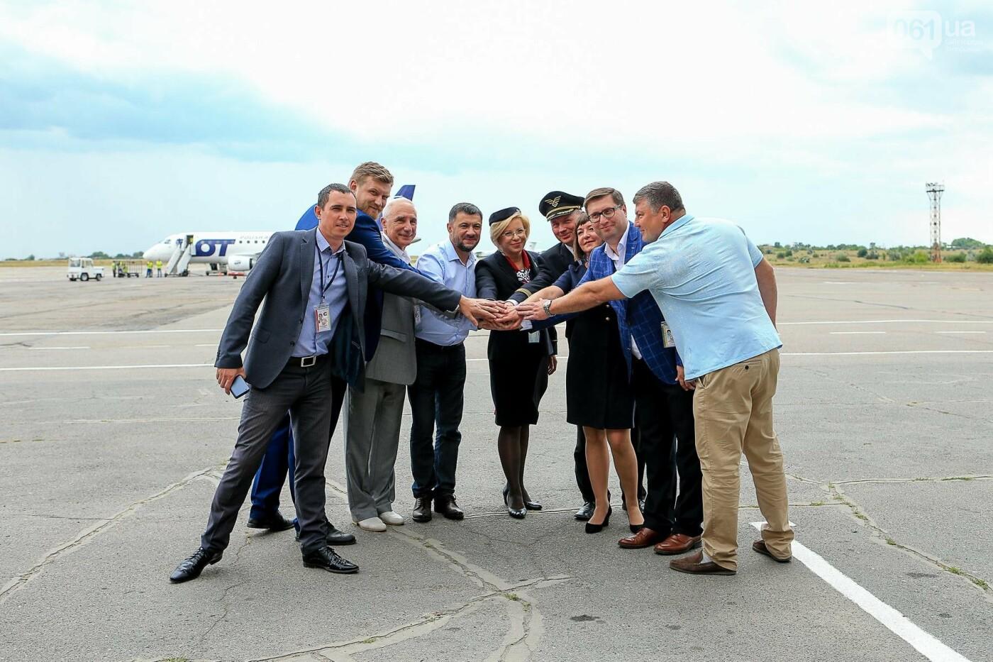 Торт, каравай и дождевая арка: открытие нового авиарейса Варшава-Запорожье в фотографиях, фото-11
