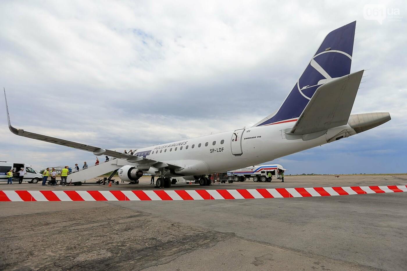 Торт, каравай и дождевая арка: открытие нового авиарейса Варшава-Запорожье в фотографиях, фото-33