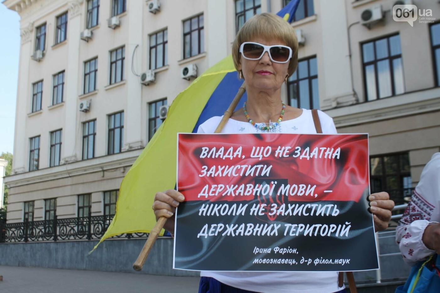 В Запорожье на митинг в защиту украинского языка под мэрию вышли 5 человек, – ФОТОРЕПОРТАЖ, фото-5