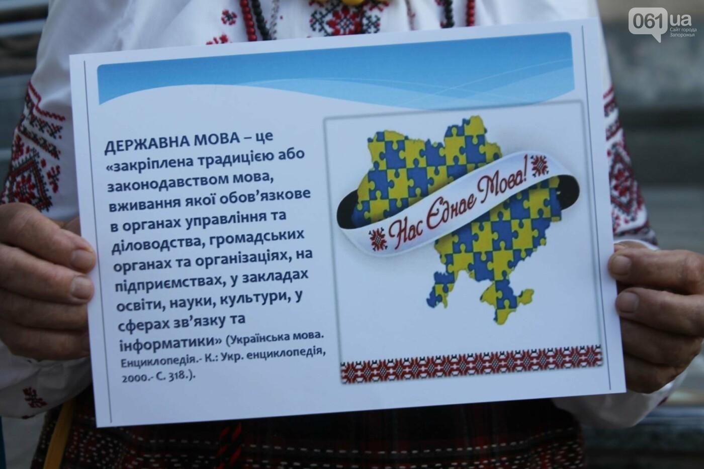 В Запорожье на митинг в защиту украинского языка под мэрию вышли 5 человек, – ФОТОРЕПОРТАЖ, фото-4