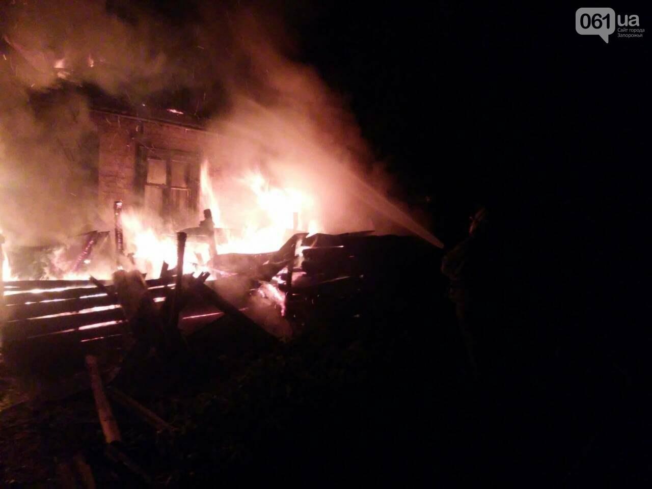 В центре Гуляйполя сгорел жилой дом, - ФОТО, фото-1