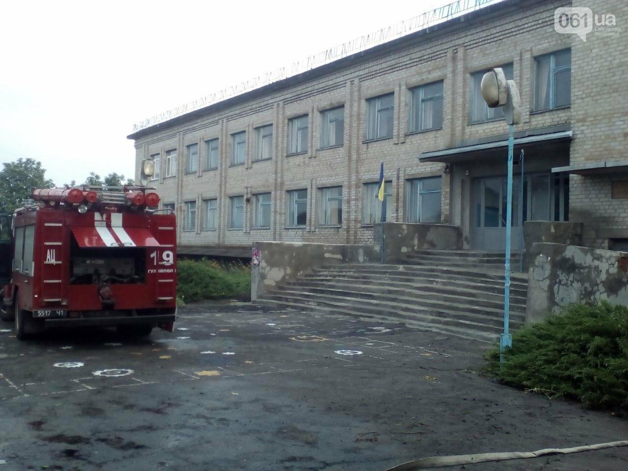 В Запорожской области из-за сильного дождя затопило подвал школы, фото-1