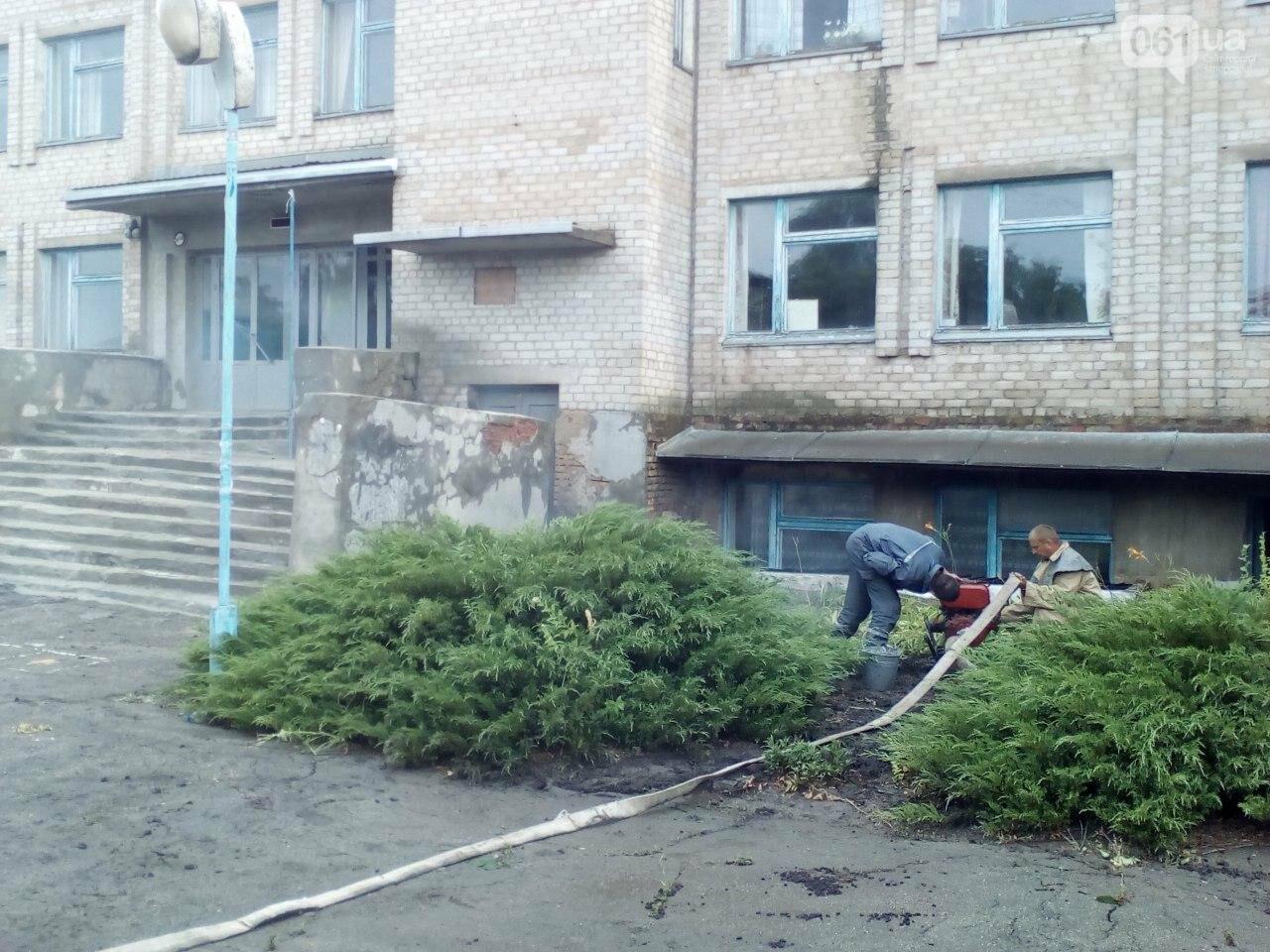 В Запорожской области из-за сильного дождя затопило подвал школы, фото-2