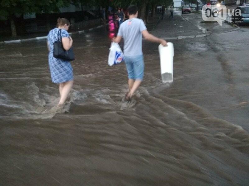 В Запорожье из-за дождя затопило спальный район: воды по колено, маршрутки едут через дворы, – ФОТО, ВИДЕО, фото-1