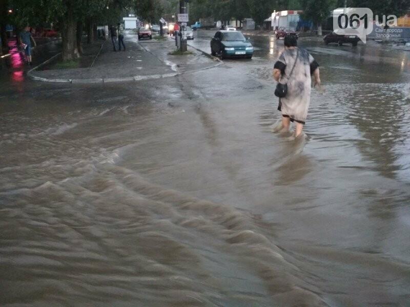 В Запорожье из-за дождя затопило спальный район: воды по колено, маршрутки едут через дворы, – ФОТО, ВИДЕО, фото-2