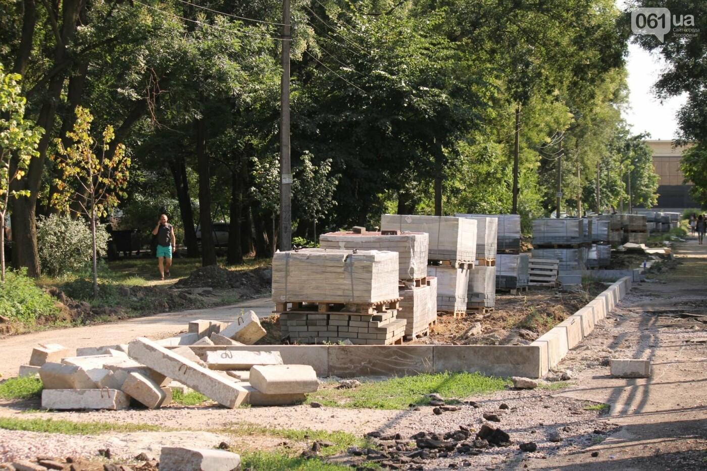 В Запорожье спешат до конца лета закончить реконструкцию аллеи на Якова Новицкого: на каком этапе работы, – ФОТОРЕПОРТАЖ, фото-15