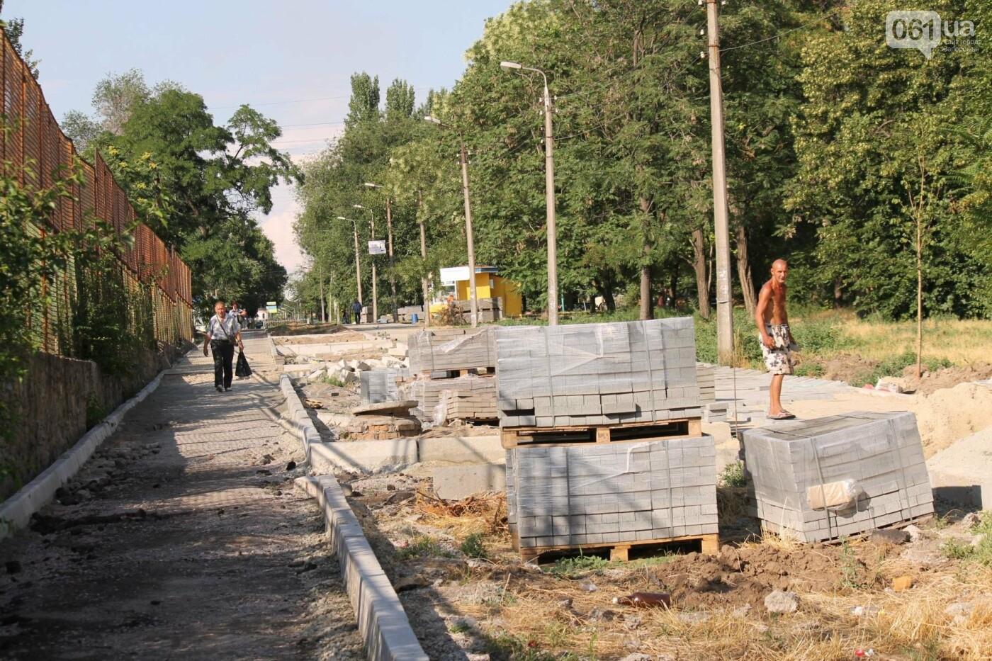 В Запорожье спешат до конца лета закончить реконструкцию аллеи на Якова Новицкого: на каком этапе работы, – ФОТОРЕПОРТАЖ, фото-16