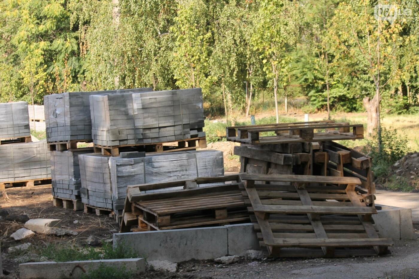 В Запорожье спешат до конца лета закончить реконструкцию аллеи на Якова Новицкого: на каком этапе работы, – ФОТОРЕПОРТАЖ, фото-21