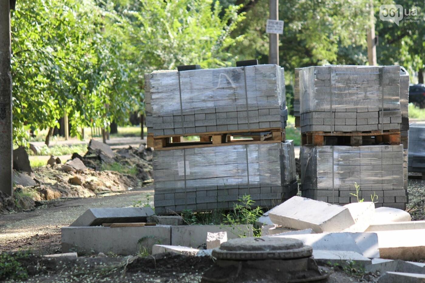 В Запорожье спешат до конца лета закончить реконструкцию аллеи на Якова Новицкого: на каком этапе работы, – ФОТОРЕПОРТАЖ, фото-18