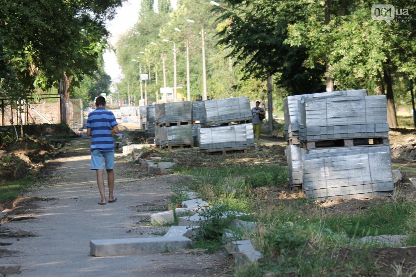 В Запорожье спешат до конца лета закончить реконструкцию аллеи на Якова Новицкого: на каком этапе работы, – ФОТОРЕПОРТАЖ, фото-17