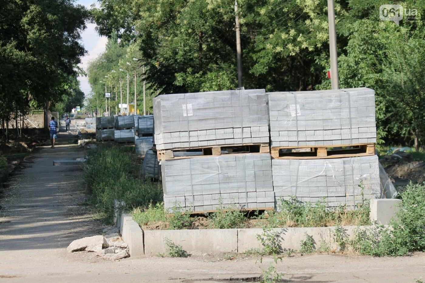 В Запорожье спешат до конца лета закончить реконструкцию аллеи на Якова Новицкого: на каком этапе работы, – ФОТОРЕПОРТАЖ, фото-23