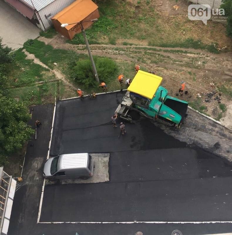 """В Мелитополе """"эффектно"""" заасфальтировали один из дворов, - ФОТО, фото-1"""
