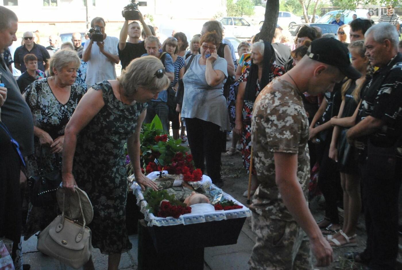 В Запорожье простились с военным, погибшим в бою, - ФОТОРЕПОРТАЖ, фото-16