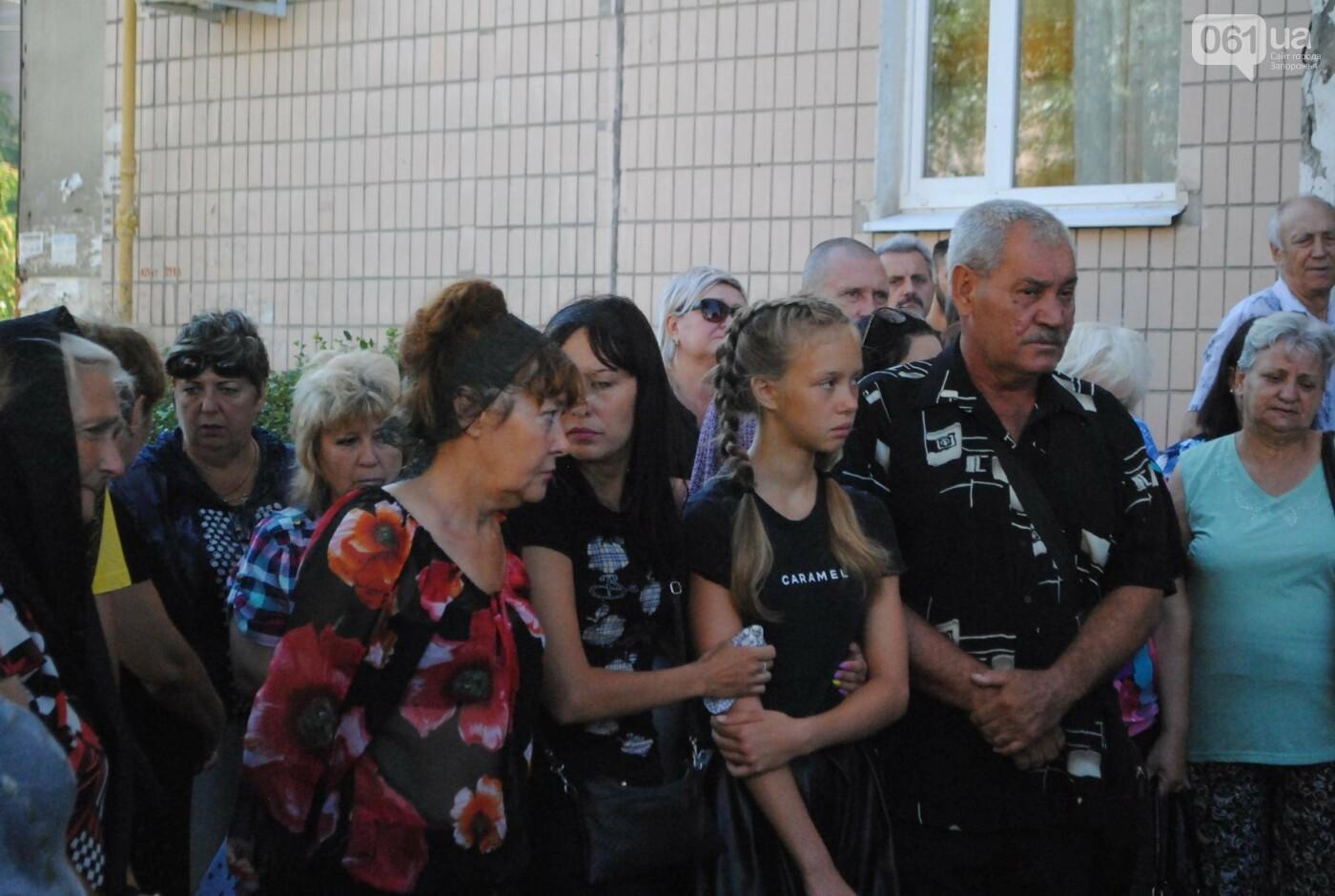В Запорожье простились с военным, погибшим в бою, - ФОТОРЕПОРТАЖ, фото-11