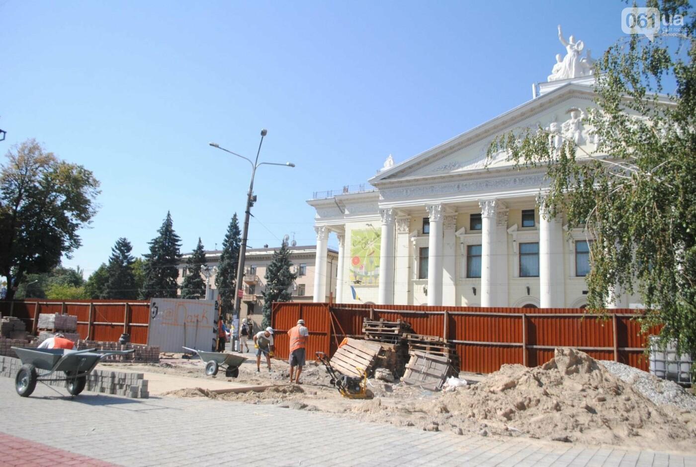Сквер напротив театра Магара обещают открыть до Дня города, ранее обещали ко Дню Независимости — ФОТОРЕПОРТАЖ, фото-2
