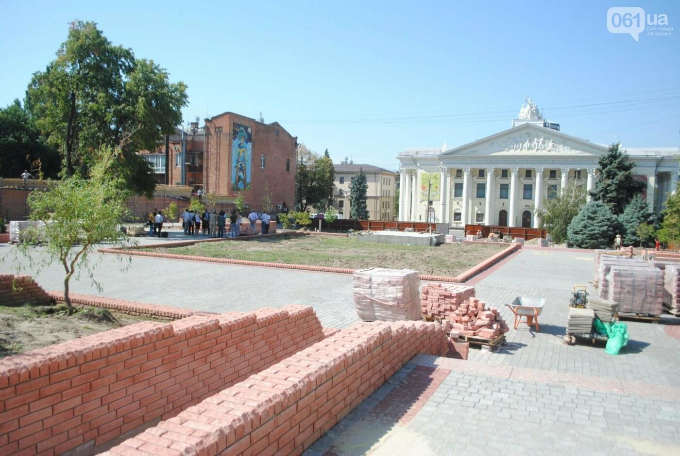 Сквер напротив театра Магара обещают открыть до Дня города, ранее обещали ко Дню Независимости — ФОТОРЕПОРТАЖ, фото-11