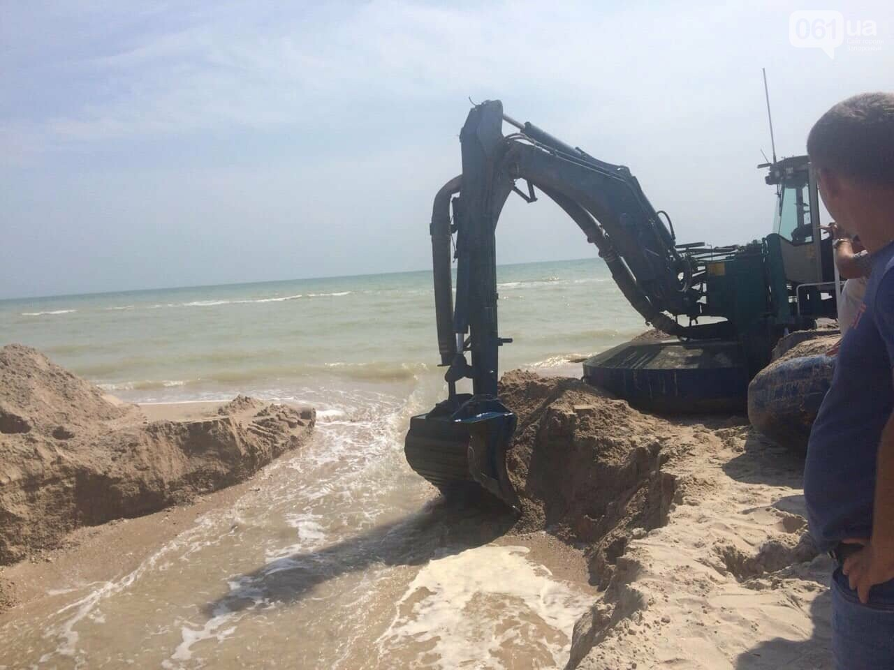 Промоину, соединяющую лиман с Азовским морем, открыли, - ФОТО , фото-4