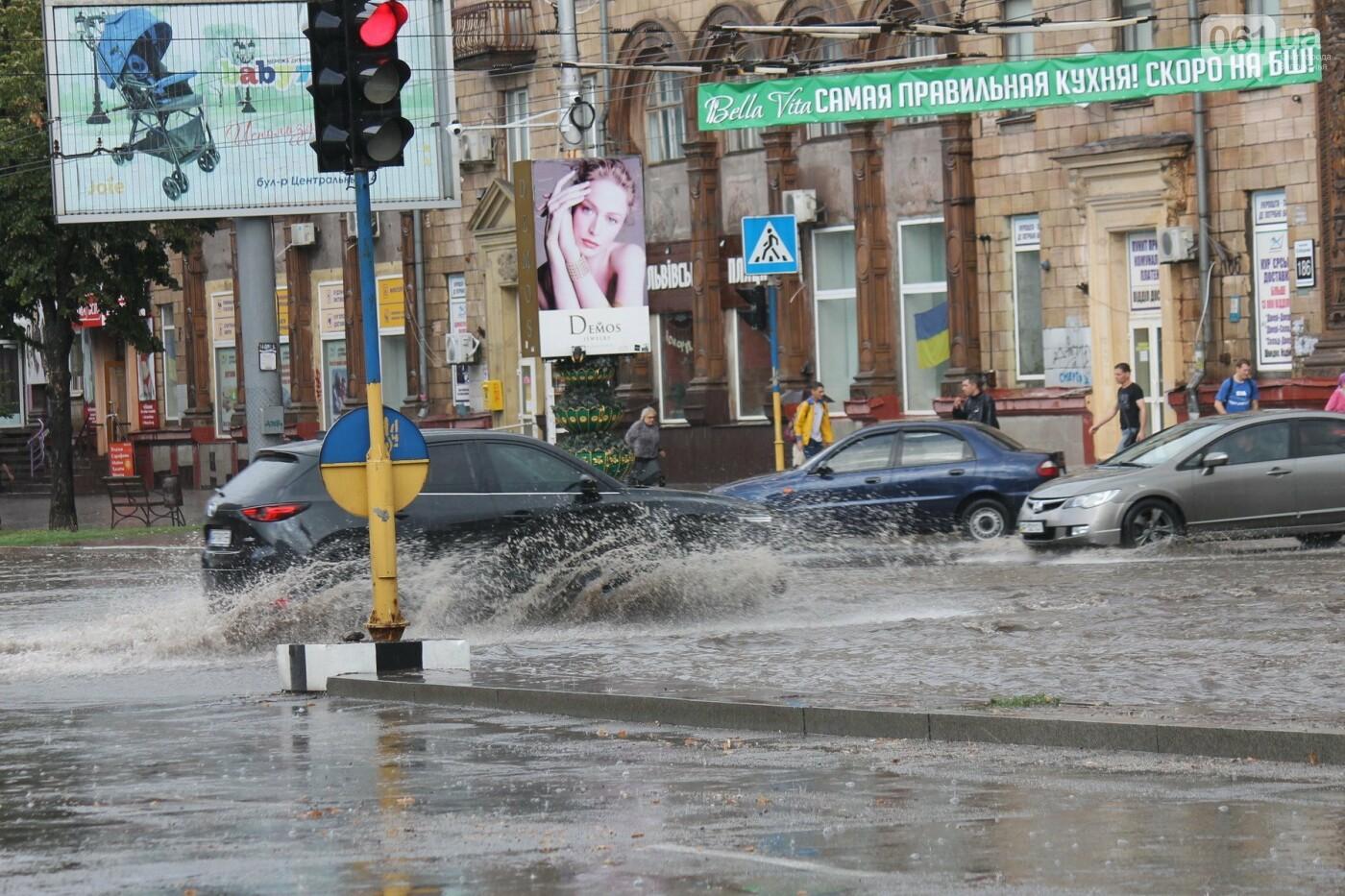 Запорожье накрыл мощный ливень: улицы затопило, люди насквозь промокли, – ФОТОРЕПОРТАЖ, фото-14