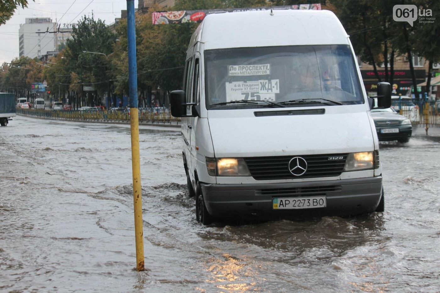 Запорожье накрыл мощный ливень: улицы затопило, люди насквозь промокли, – ФОТОРЕПОРТАЖ, фото-5