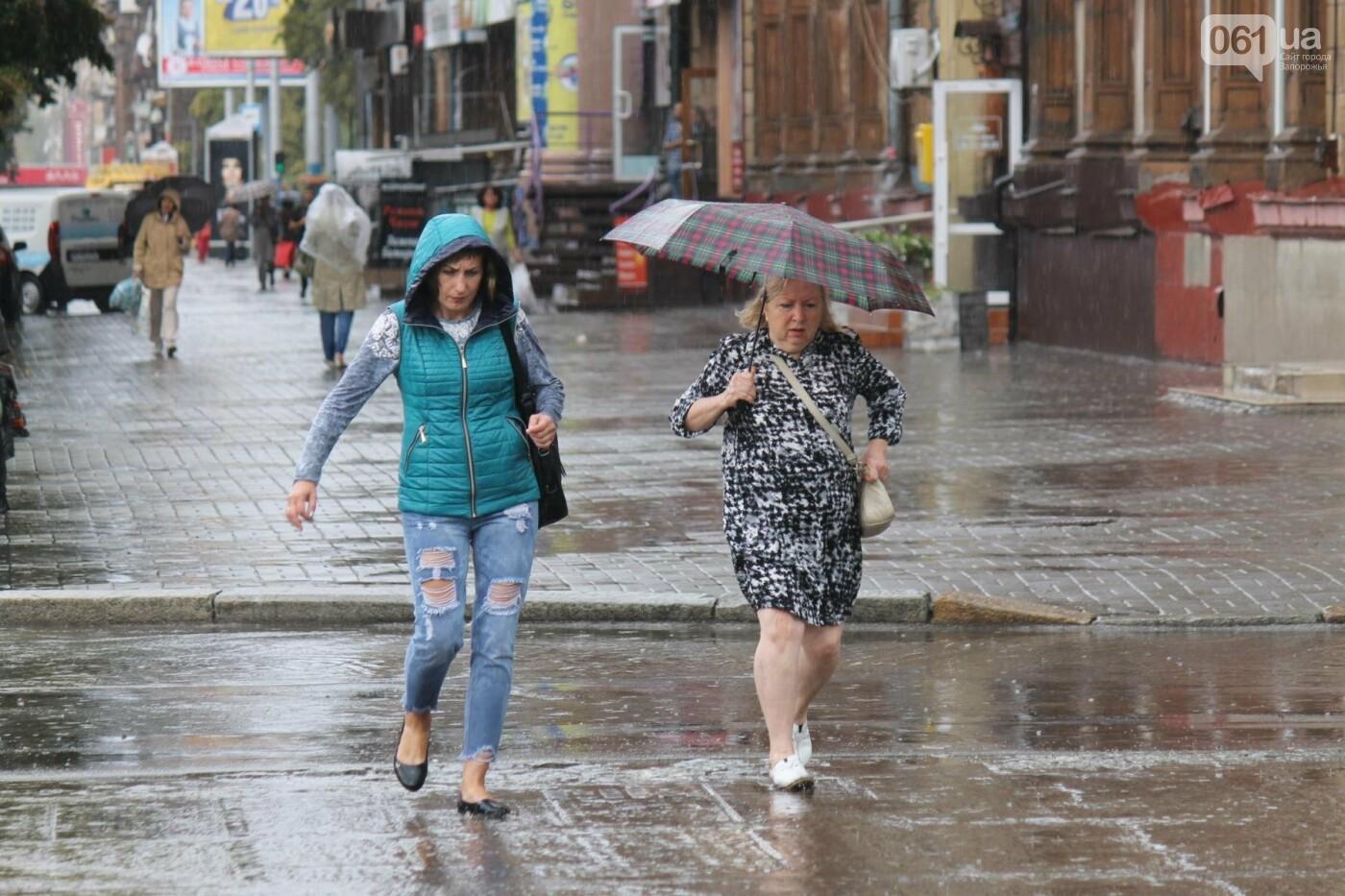 Запорожье накрыл мощный ливень: улицы затопило, люди насквозь промокли, – ФОТОРЕПОРТАЖ, фото-12