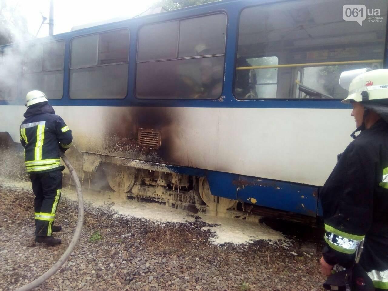 В Заводском районе Запорожья загорелся трамвай, - ФОТО, фото-1