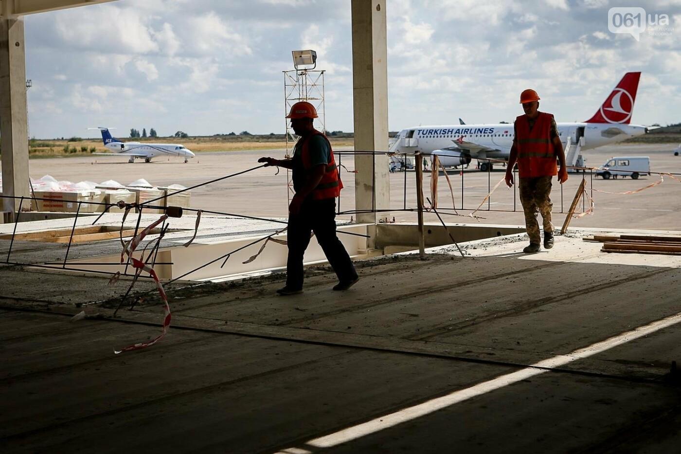 Как идет строительство нового терминала аэропорта Запорожья 7