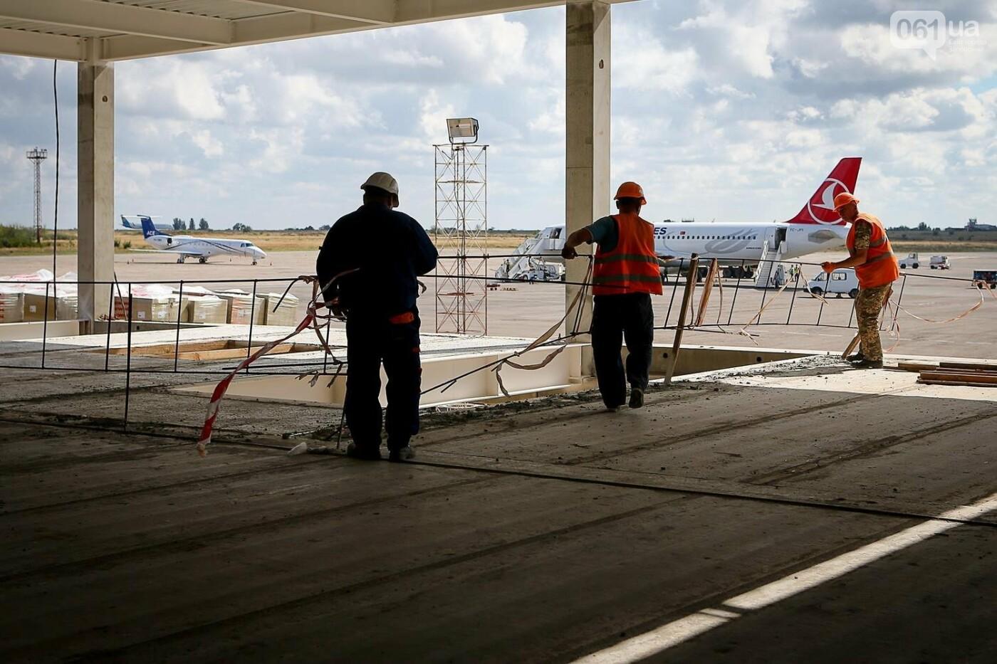 Как идет строительство нового терминала аэропорта Запорожья 12