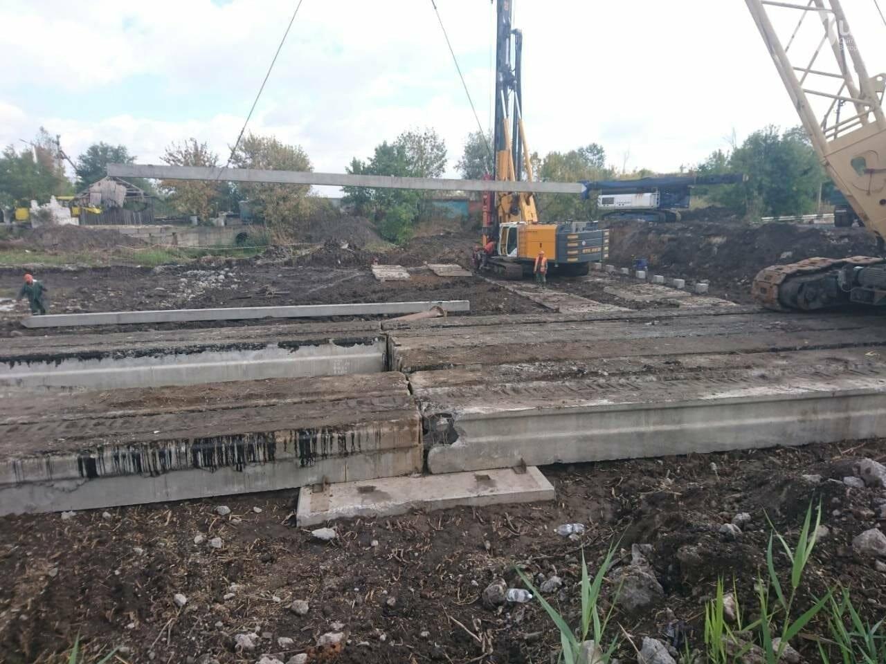 На запорожской трассе демонтировали мост через Сухую Балку, - ФОТО, фото-1