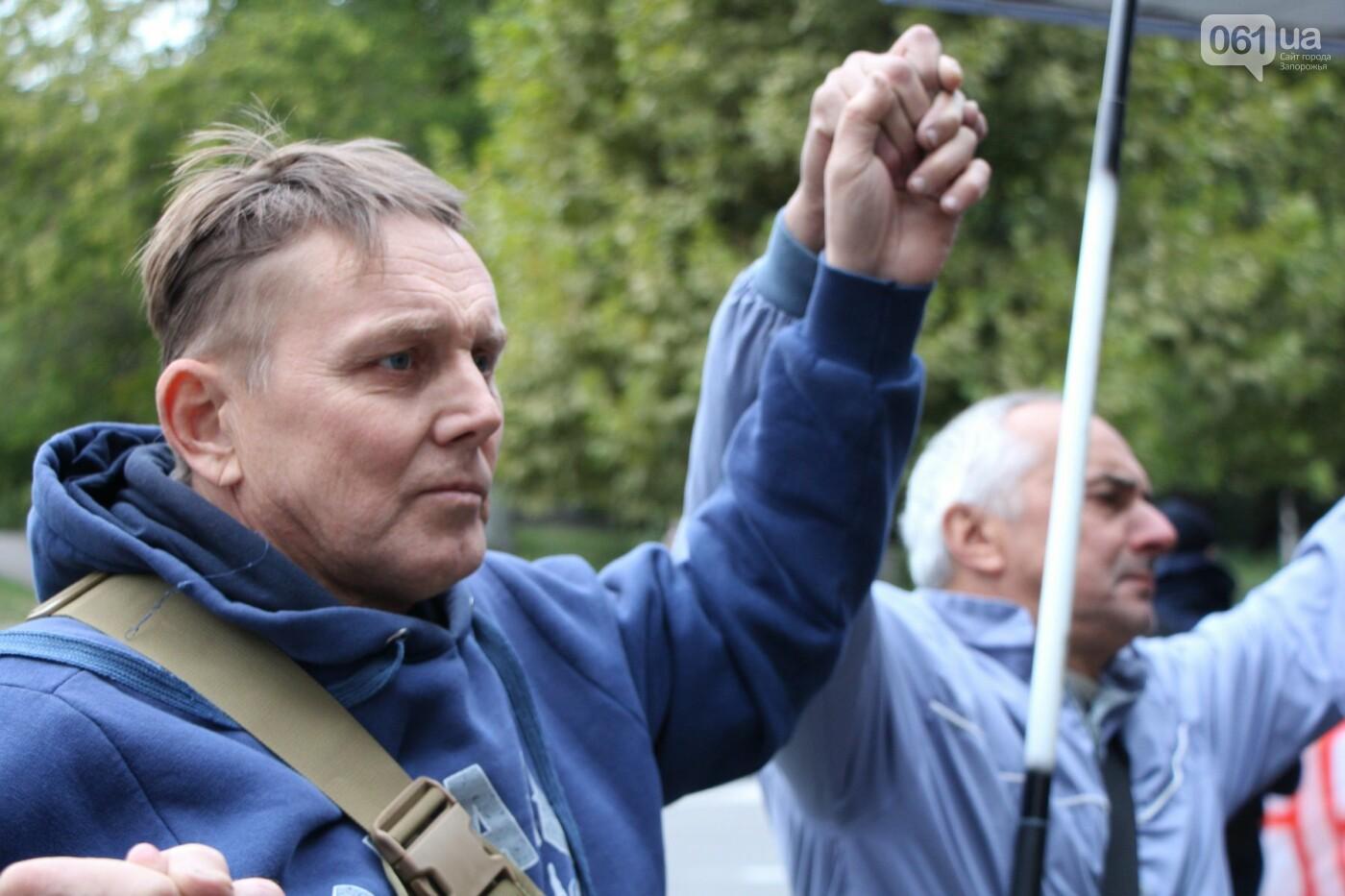 Активисты под прицелом: в Запорожье под зданием Нацполиции митинговали за расследование преступлений, - ФОТОРЕПОРТАЖ, фото-13