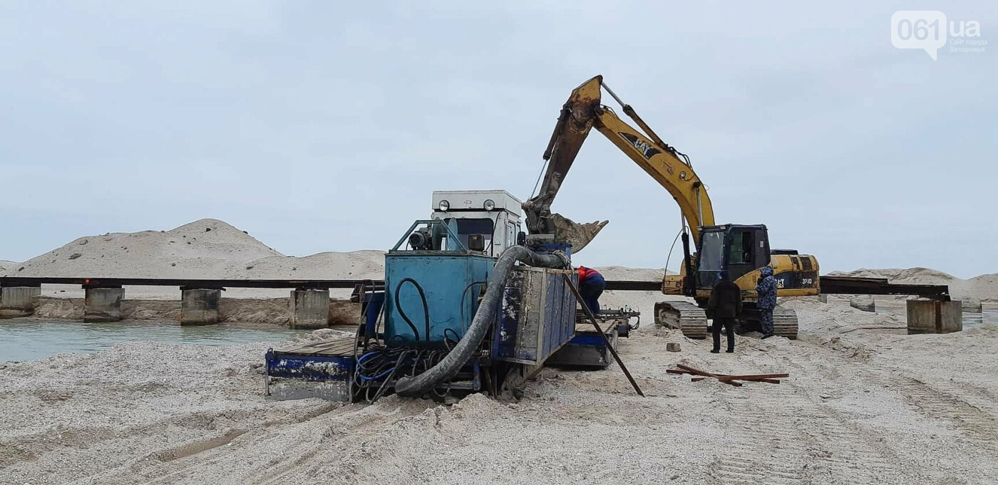 Реконструкция промоины на Молочном лимане: канал расширили на 40 метров, на объекте работает земснаряд, - ФОТОРЕПОРТАЖ, фото-9
