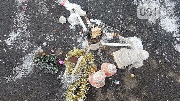В Бердянске в новогоднюю ночь со двора многоэтажки украли 3-метровую ель, - ФОТО, фото-2