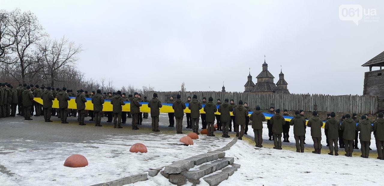 Запорожские военные провели на Хортице флешмоб в поддержку украинских моряков, - ФОТО, ВИДЕО, фото-6
