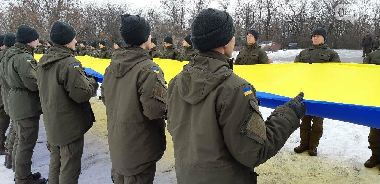 Запорожские военные провели на Хортице флешмоб в поддержку украинских моряков, - ФОТО, ВИДЕО, фото-5