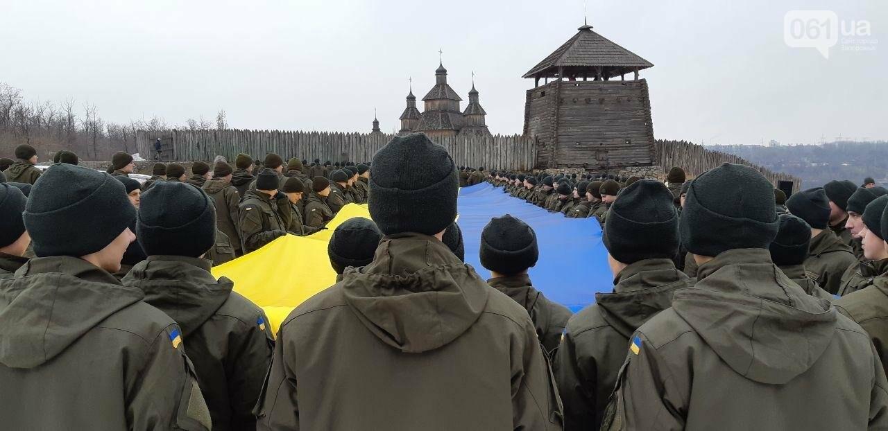 Запорожские военные провели на Хортице флешмоб в поддержку украинских моряков, - ФОТО, ВИДЕО, фото-2