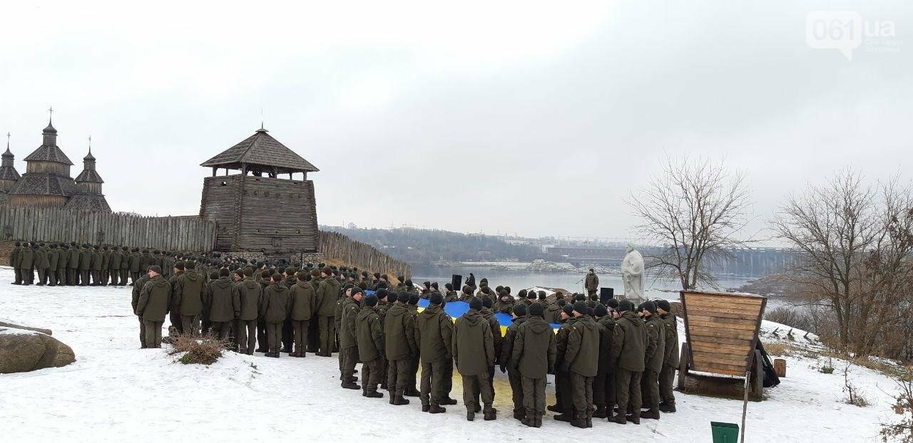 Запорожские военные провели на Хортице флешмоб в поддержку украинских моряков, - ФОТО, ВИДЕО, фото-1
