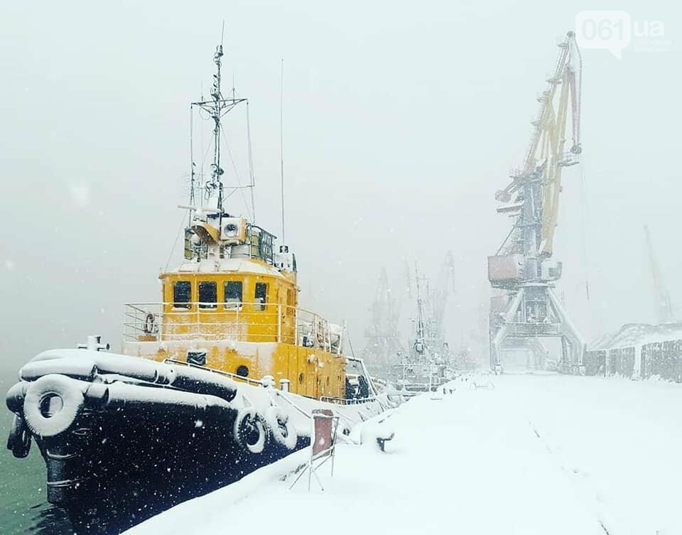 Администрация Бердянского порта опубликовала фото заснеженных судов, - ФОТО, фото-2