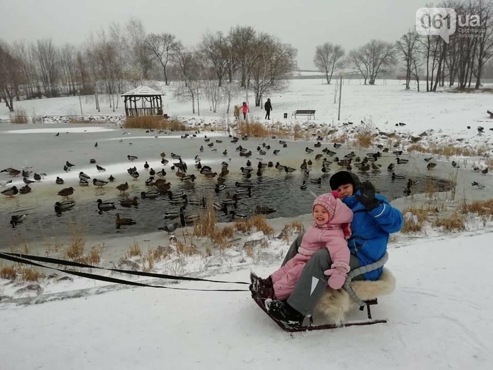 Снежное Запорожье и детвора на санках, - ФОТОРЕПОРТАЖ, фото-13
