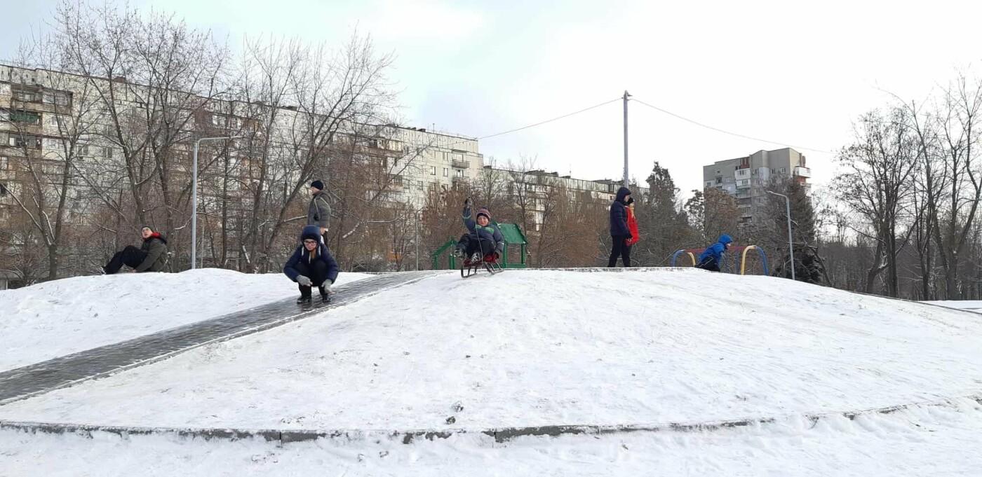 Снежное Запорожье и детвора на санках, - ФОТОРЕПОРТАЖ, фото-2