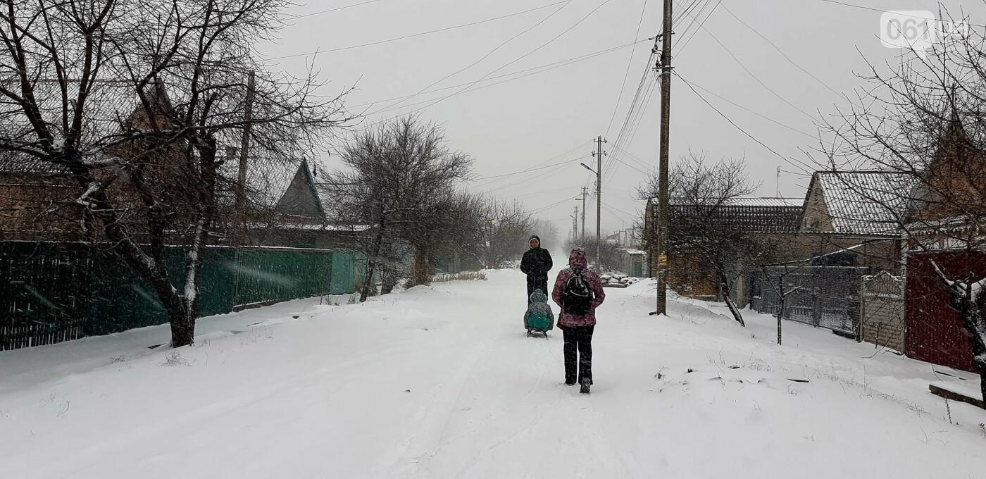 Снежное Запорожье и детвора на санках, - ФОТОРЕПОРТАЖ, фото-10