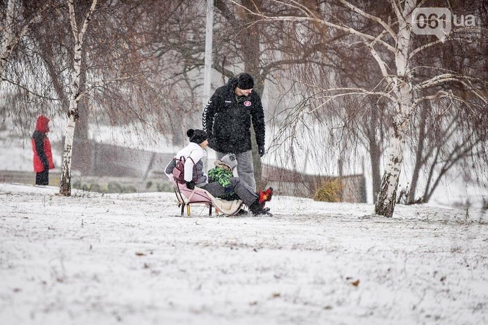 Снежное Запорожье и детвора на санках, - ФОТОРЕПОРТАЖ, фото-42