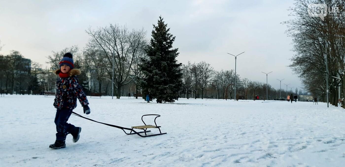 Снежное Запорожье и детвора на санках, - ФОТОРЕПОРТАЖ, фото-7