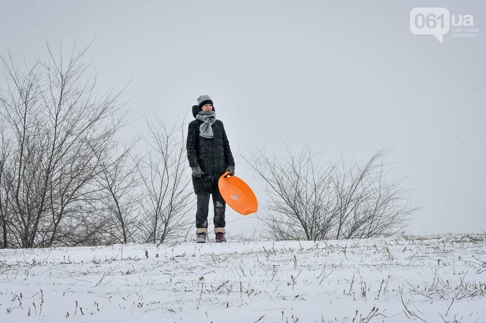 Снежное Запорожье и детвора на санках, - ФОТОРЕПОРТАЖ, фото-36