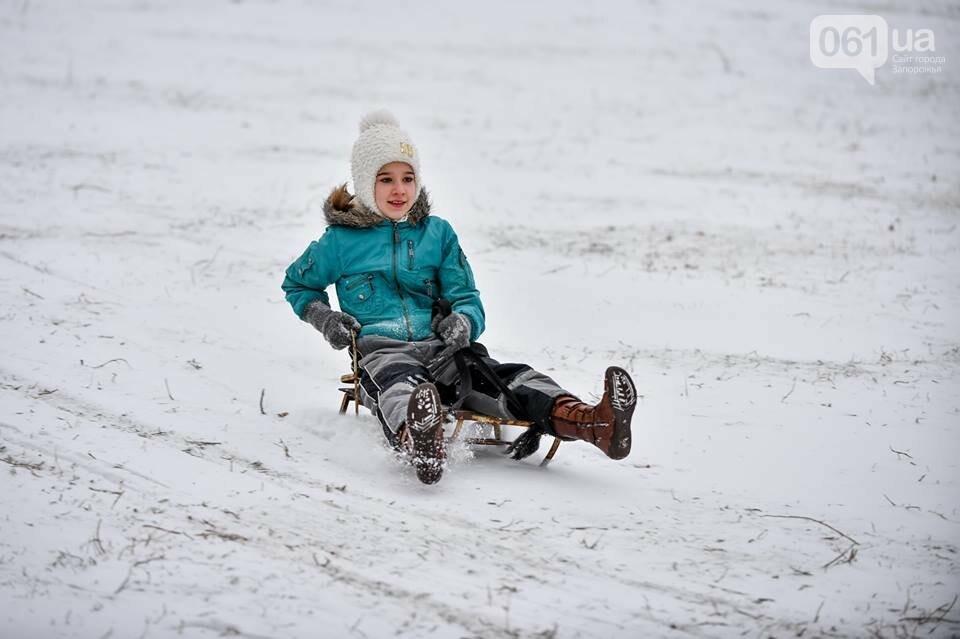Снежное Запорожье и детвора на санках, - ФОТОРЕПОРТАЖ, фото-21