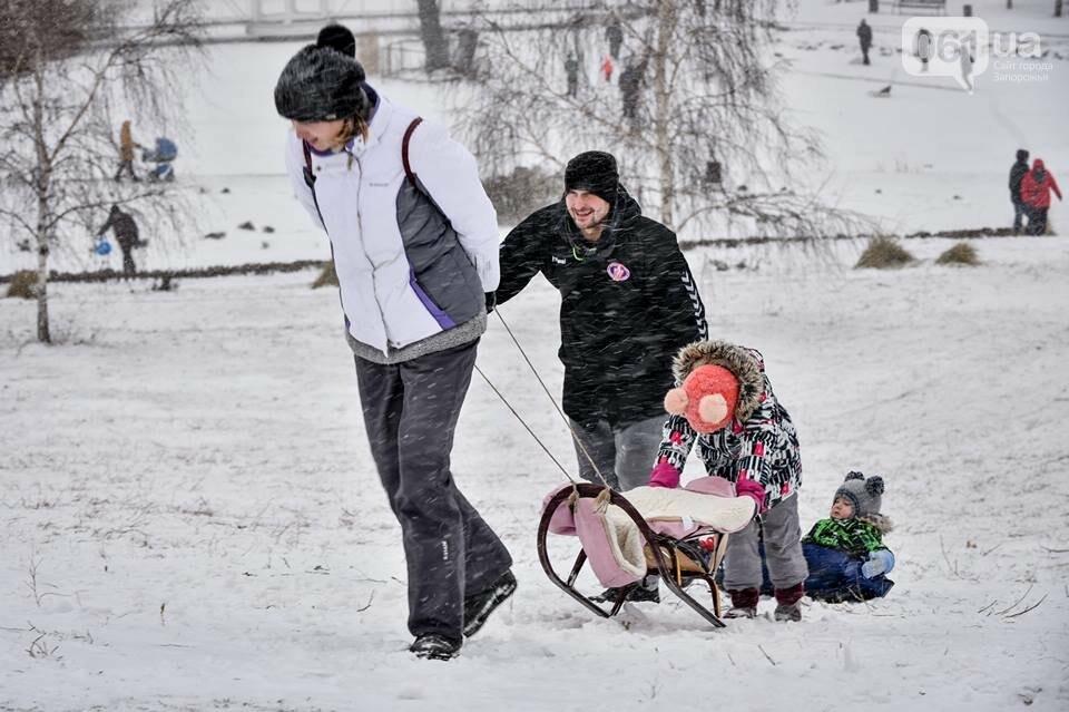 Снежное Запорожье и детвора на санках, - ФОТОРЕПОРТАЖ, фото-43