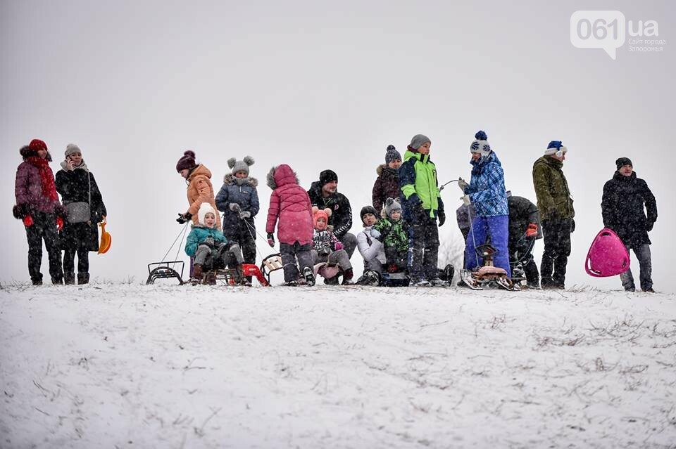 Снежное Запорожье и детвора на санках, - ФОТОРЕПОРТАЖ, фото-25