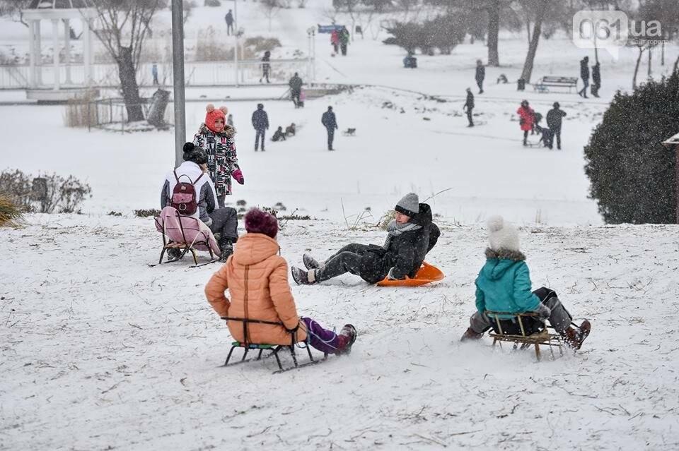 Снежное Запорожье и детвора на санках, - ФОТОРЕПОРТАЖ, фото-26