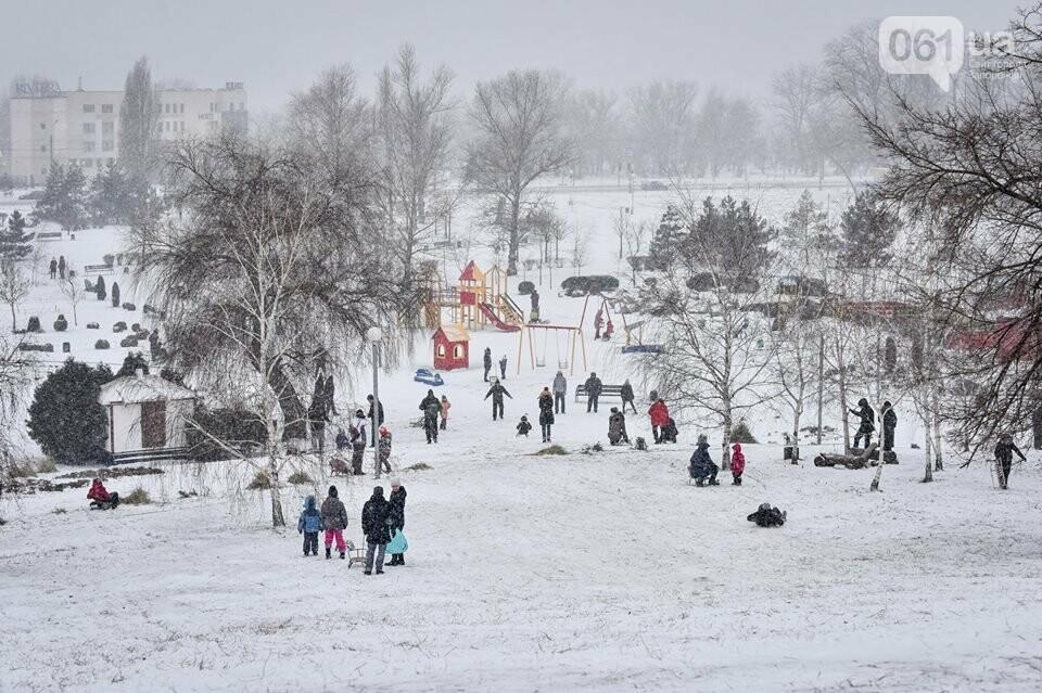 Снежное Запорожье и детвора на санках, - ФОТОРЕПОРТАЖ, фото-41